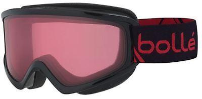 NEW BOLLE FREEZE BLACK FRAME REDSTRAP VERMILLON LENS SKI SNOWBOARD GOGGLES-21491