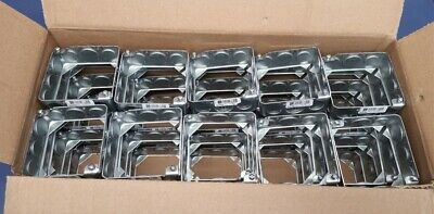 Lot Of 50 Steel City 53151 12 34 Galvanized Steel Square Box Extension Ring