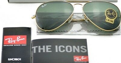 Ray-Ban RB3025 Aviator Classic L0205/58mm Gold Frame/Green Classic G-15 Lenses