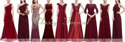 Burgundy Dark Red Classy Formal Dresses @Benowa Gold Coast