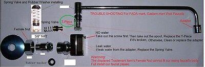 Chinese Wok Range Faucet Plastic T Part X15pcs