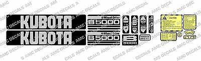 Kubota B5000 Compact Tractor Decal Sticker Set
