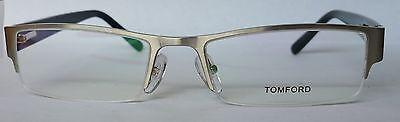 Tom Ford FT6003 Silver Half Rim Optical Glasses, 53mm, 18mm, 135mm, Unisex