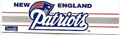 """NEW ENGLAND PATRIOTS  FOOTBALL TEAM ISSUED STICKER DECAL 6"""" VINTAGE 1990'S MINT"""