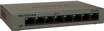 NETGEAR 8-Port Gigabit Ethernet 10/100/1000Mbps Switch for Router & Modem NEW