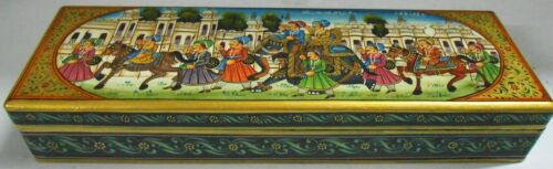 Box Procession  Painting Decorative Work On Wood Artistic Collection Jewelry Box