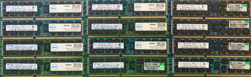 USED 12 x 8gb PCL3 10600R Memory