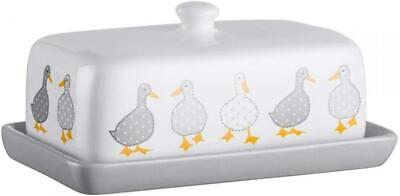 Price & Kensington Madison Duck Stoneware Butter Dish with Lid