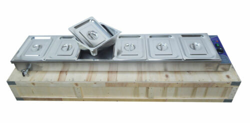 110V 6-Well Commercial Buffet Food Warmer Food Insulation Equipment USA 190223