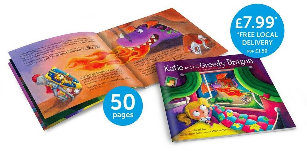 Katie and the Greedy Dragon - Children's Bedtime Story Book - Picture Book