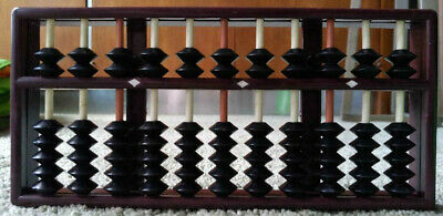 Abacus with instruction book, plastic, boxed