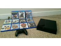 PS 4 console and 11 games