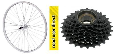 "26"" Rear Alloy Mountain Bike Wheel With Optional 6 Or 7 Speed Freewheel"