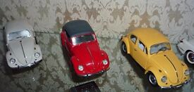 Franklin Mint VW Beetles X3