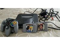 Nintendo 64, Unboxed, 1 pad, 2 Games