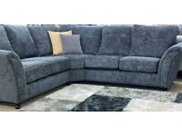 Regency dark grey fabric corner sofa