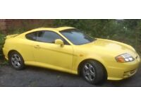 2005 Hyundai Coupe FX 1600 twin cam Sunny Yellow Great Number Many Receipts Recent Clutch Needs MOT