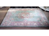 100% Wool Thick Pile Chinese Rug 123cms x 182 cms REDUCED TO CLEAR
