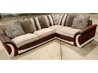 Corner Sofa - Light Brown/beige. Can deliver
