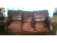 Leather Sofa For Sale £15