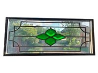 Stained glass leaded windows x 12