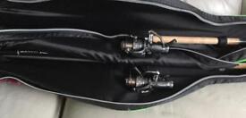 Maver Platinum Double Rod with Ground Hugga umberella