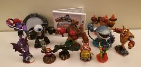 Lot of 11 Skylanders, Nintendo 3Ds game and portal