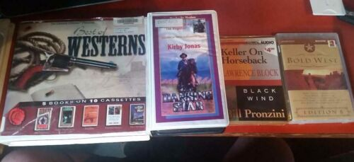 Lot of 12 Western Stories on Cassette Audio Books  , on 25 tapes