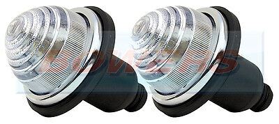 2x LAND ROVER CLASSIC MINI FRONTREAR CLEAR INDICATOR LAMPS LIGHTS AS LUCAS L594