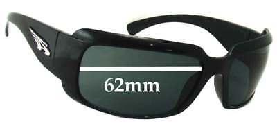 SFx Replacement Sunglass Lenses fits Arnette AN4076 Infamous - 62mm (Infamous Arnette Sunglasses)