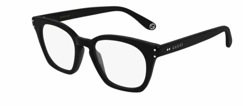 Authentic Gucci GG 0572 O 006 Black Eyeglasses  Gucci lettering logo on temples