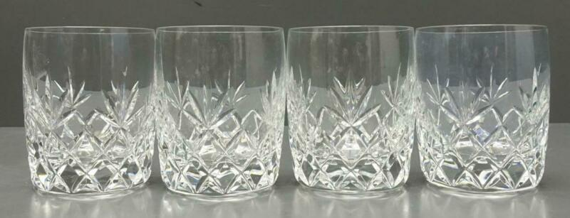 "Set of 4 Lenox CHARLESTON 4"" Crystal Double Old Fashioned Glasses tumbler"