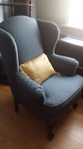 WING BACK CUSTOM UPHOSLTERED CHAIRS