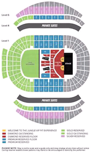 Guns n roses tickets x 2 sat 11th. 8 rows back, diamond reserve East Tamworth Tamworth City Preview