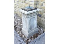 Antique 19thC Sandstone Sundial & Pedestal. Sandstone not a Reproduction OFFERS WELCOME