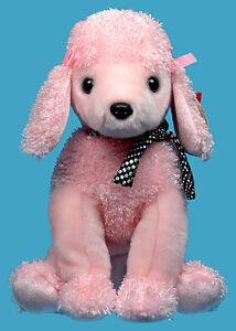 Brigitte the Pink Poodle Ty Beanie Buddy stuffed animal