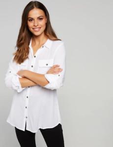 White Paris Utility Shirt from Dotti