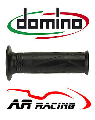 DOMINO 0300 <em>YAMAHA</em> STYLE MOTORCYCLE OPEN END GRIPS PAIR IN BLACK