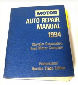 1994 Auto Repair Service Manual by Motor Kawartha Lakes Peterborough Area image 1