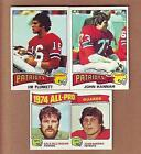 1975 Topps Football Card Complete Set