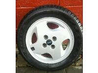 """4 x 14"""" alloy wheels and tyres for fiat"""