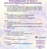 Seeking Research Participants for Relationship Research