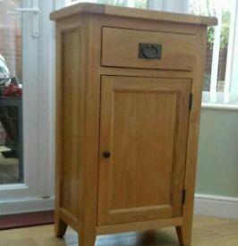 small solid oak cupboard