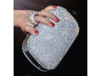 2017 diamond-studded evening clutch bag