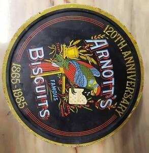Vintage Arnott's 120th Anniversary Biscuit Tin 1865 - 1985 Woombye Maroochydore Area Preview