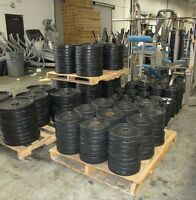 Commercial Rubber Coated Olympic Plates-USED-10k Lbs available
