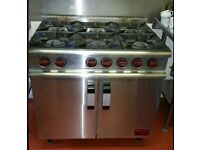 6 Ring Gas Commercial Cooker
