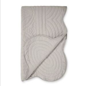 Next Quilted Grey Throw - NEW