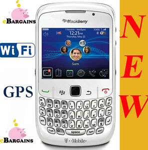 NEW-RIM-Blackberry-8520-Curve-WiFi-Smartphone-Cell-Phone-T-Mobile-WHITE