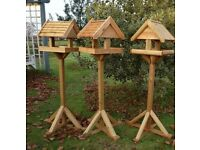 QUALITY HAND- CRAFTED BIRD TABLES MADE IN THE UK (non slate)